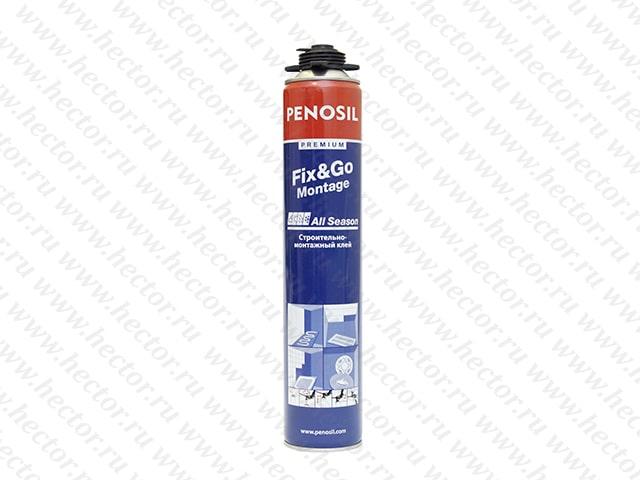 Клей-пена (аэрозольный монтажный клей) Penosil Fix&Go Montage, 750 мл