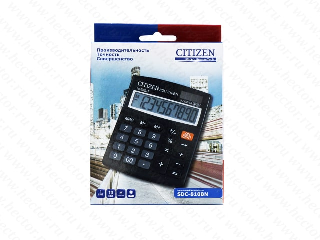 Калькулятор CITIZEN бухг. SDC810BN 10 разрядов DP